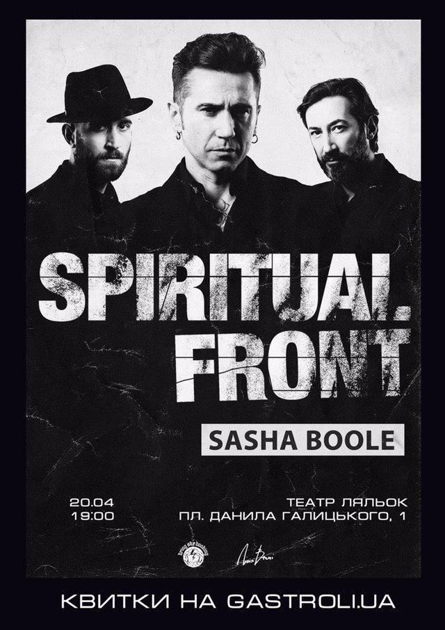 Spiritual Front (IT) та Sasha Boole у Львові 20 квітня 2019 року